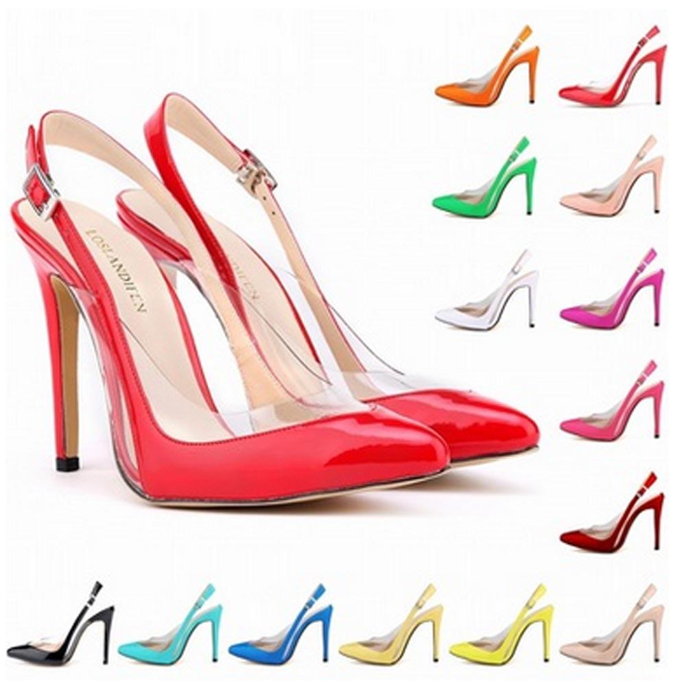 New Arrived Special Offer Femininos Women Shoes Patent Pu High Heel Pointed Corset Style Work Pumps Shoes US 4-11 D0004