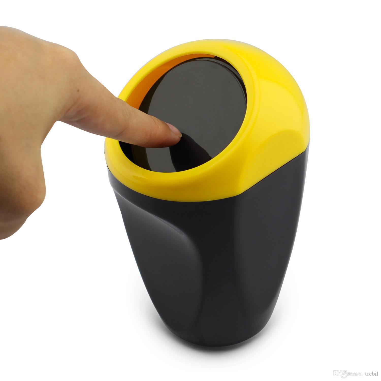 Auto-LKW-innerer Teil-Abfall-Mülleimer kann Abfall-Mist-Staub-Behälter-Getränk-Halter-Gelb-Art-Zubehör abreißen