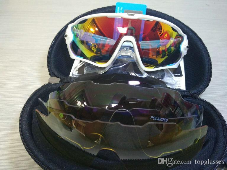 2018 16 colores Fashion Sun Gafas de sol con 4 lentes Marca polarizada Jawbreaker Gafas de sol para hombres Mujeres Deporte Ciclismo Bicicleta Mens Sunglasses