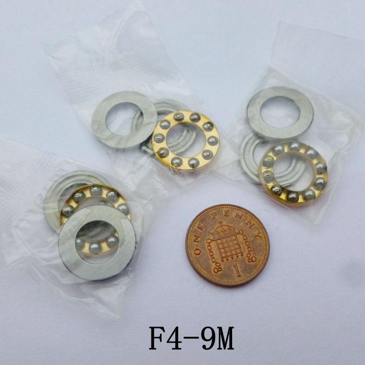 100 pcs F4-9M Rolamentos Axiais de Esferas 4 * 9 * 4 avião em miniatura empurrar rolamento de esferas 4x9x4mm