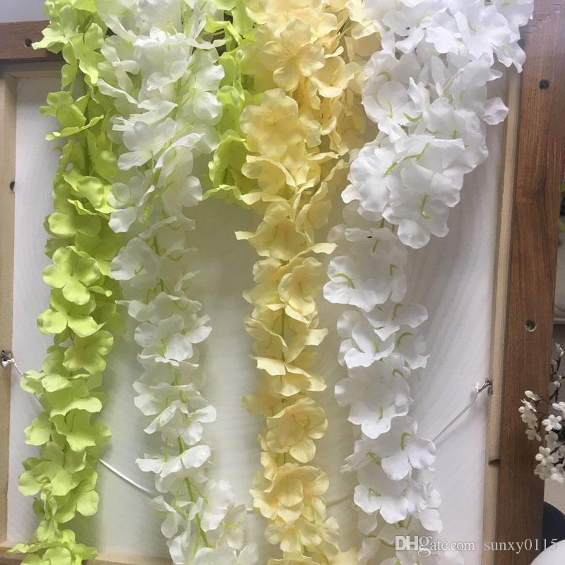 Yeni 35 cm İpek Ortanca çiçeği Vine Yapay Çiçek Wisteria İçin Düğün Dekorasyon Parti Bahçe Çiçek Duvar Dekorasyon Ev Dekorasyonu