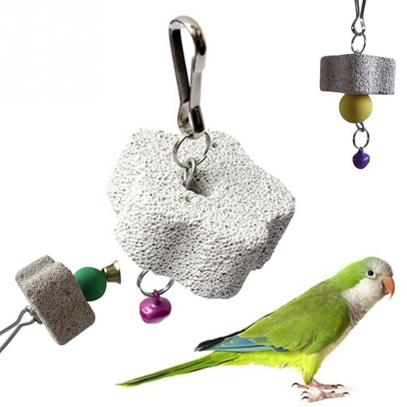 Parrot Mouth Rettifica Cage Stone Toy Molar Stone Parakeet Cockatiel Toy Mineral 4cm Parrot Mouth Grinding Stone