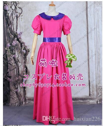 Free shipping princess party costume Super Mario Bros peach Bubble princess cosplay dress costume