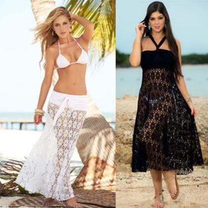 패션 비치 여성 튜닉 섹시한 수영복 여름 해변 커버 블라우스 크로 셰 뜨개질 출력 비치 외출, 여성 비치웨어
