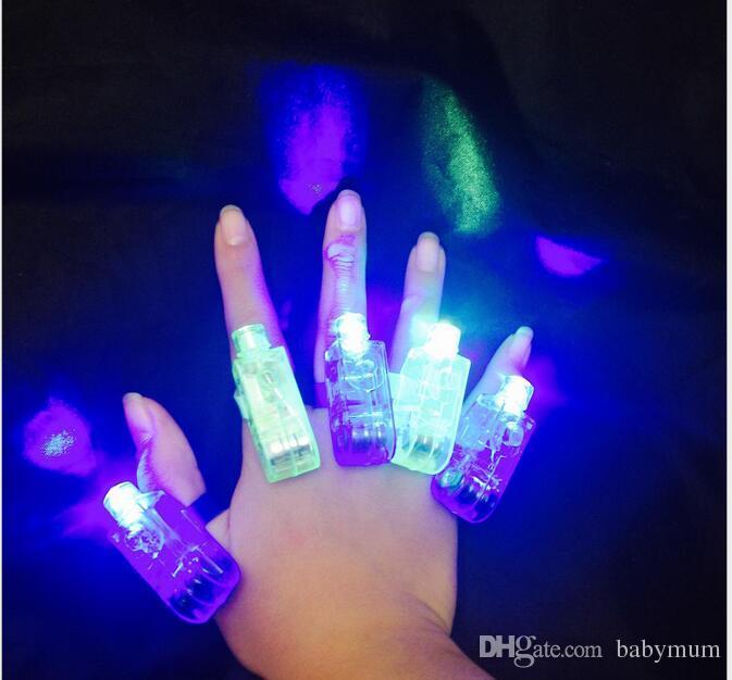 lumières doigt magique laser lumineux LED Annulaire lampe torche faisceaux lumineux pour KTV Party Bar anneau lumineux doigt laser lueur lumière rave