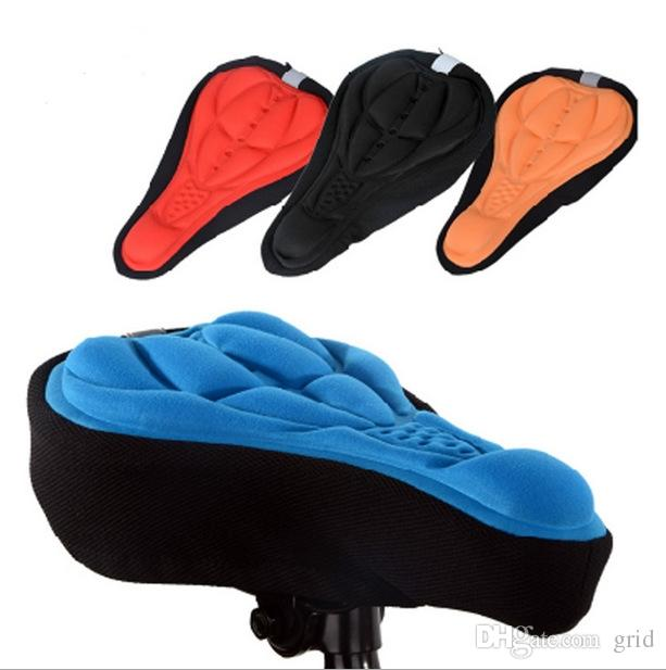 4 Colors Cycling Bike Saddles 3D Comfortable Silicone Gel Seat Cover Cushion Soft Bicycle Pad Mountain Bike Parts Acessories Free Shipping