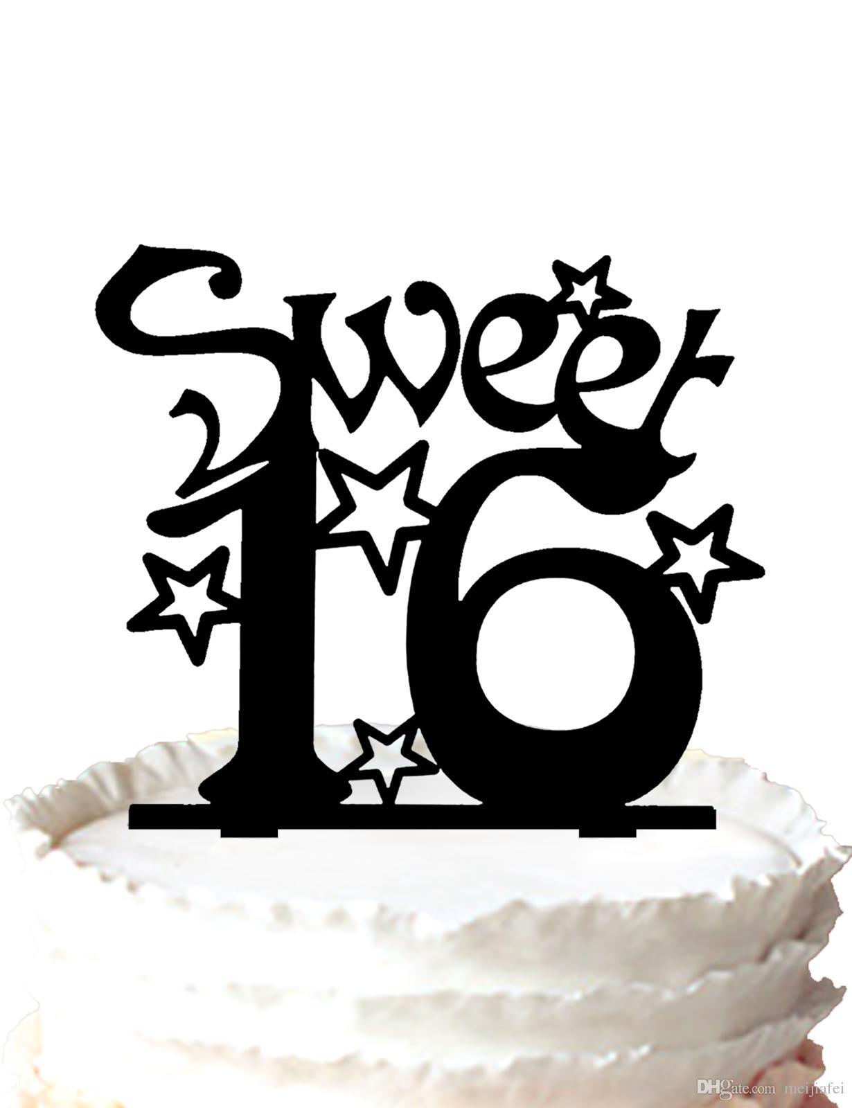 Admirable 2020 Sweet Sixteen Birthday Cake Topper Silhouette Many Stars Personalised Birthday Cards Akebfashionlily Jamesorg