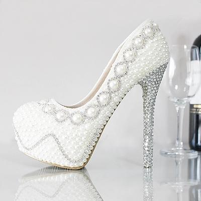 Cheap Luxurious Pearls Crystals Wedding Shoes 2016 New 11 Cm High Heel Bridal Party Prom Evening Women As Low 5689 Also Buy
