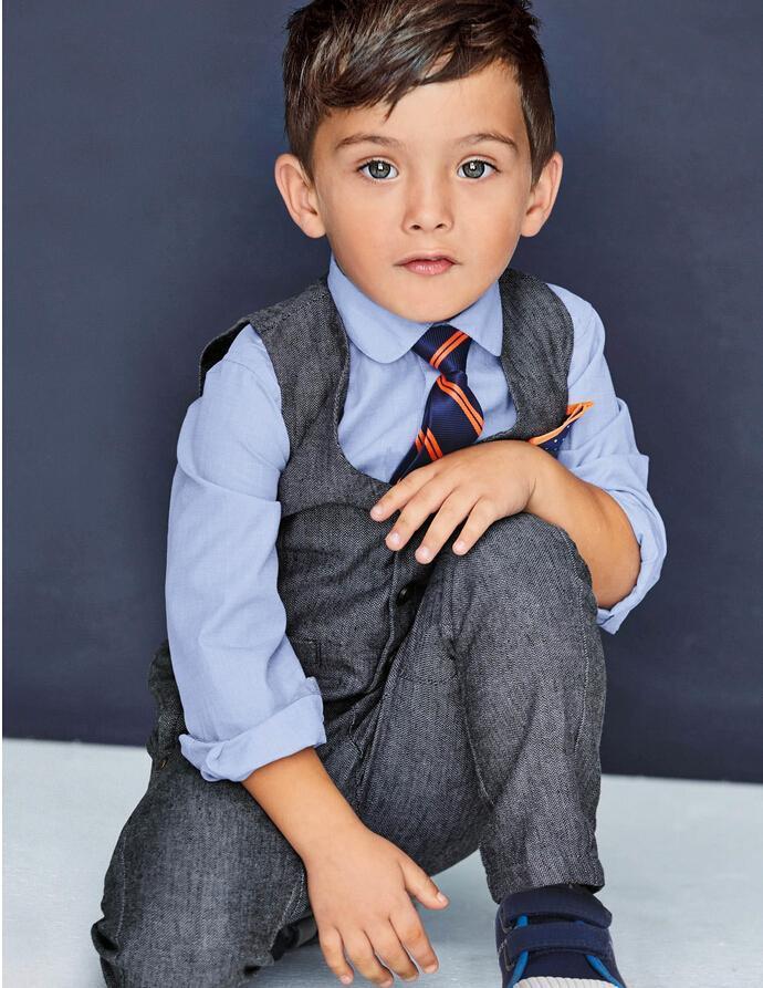 0a2453a76 Four Pieces Luxurious Black Ring Bearer Suits Boys Tuxedo Children dress  tuxedo kids formal dress boys suits (jacket+vest+Pants+Shirt+Tie)