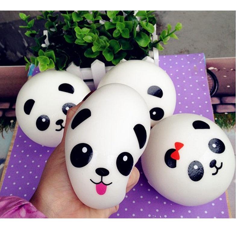 Panda Squishy Charms Kawaii Buns Bread Cell Phone Key / Bag Ciondolo a forma di ciondolo # R12