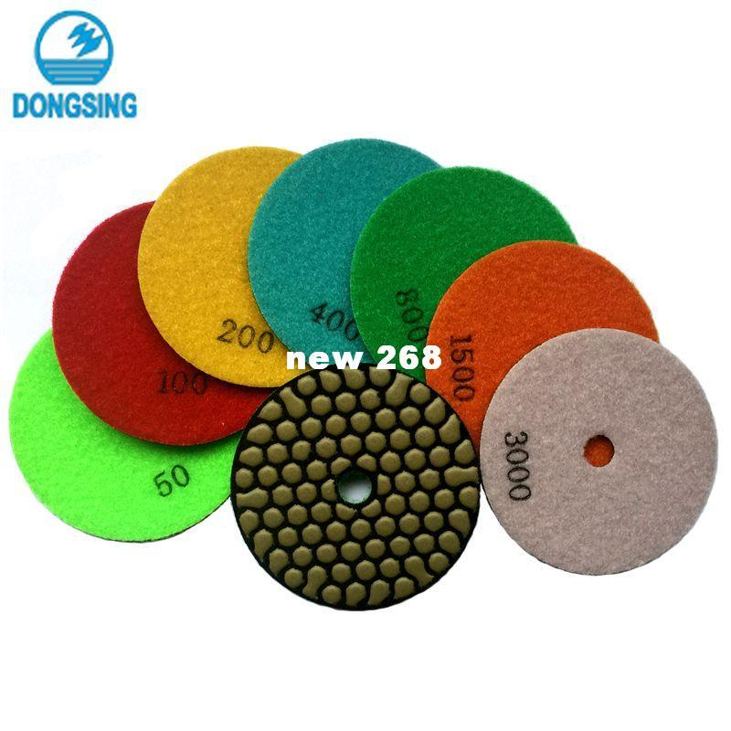 Free shipping! (4GM) Wholesale 4inch/100mm Dry Polishing Pads/granite and marble or Honeycomb Flexible polishing pads+14Pcs/Lot