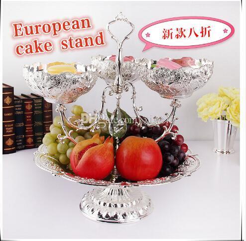 mode métal gâteau stand fruits rack dessert pâteux noix mariage décoration fête événement KTV casse-croûte