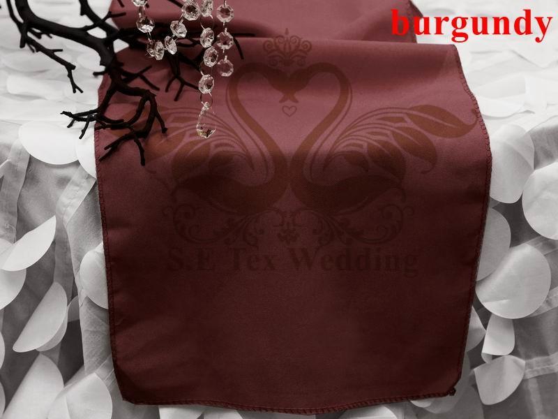 Pas cher Bourgogne Couleur Nouveau design Poly Plaine de Table Pour Mariage Décoration Non Brillant