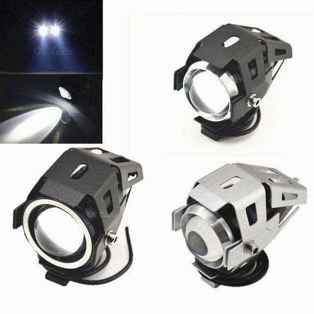 2 stücke 125 Watt CREE U5 LED Motorrad Fahren Nebelscheinwerfer Scheinwerfer Lampe Scheinwerfer Lampe Motorrad 3000LMW LED-Licht