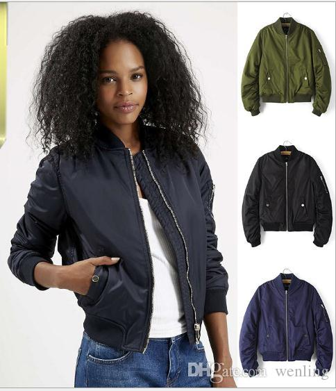 Winter Flight army green bomber jacket women jacket and women's coat  clothes bomber ladies ... - Wholesale Winter Flight Army Green Bomber Jacket Women Jacket And