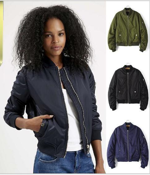 Wholesale Winter Flight Army Green Bomber Jacket Women Jacket And ...