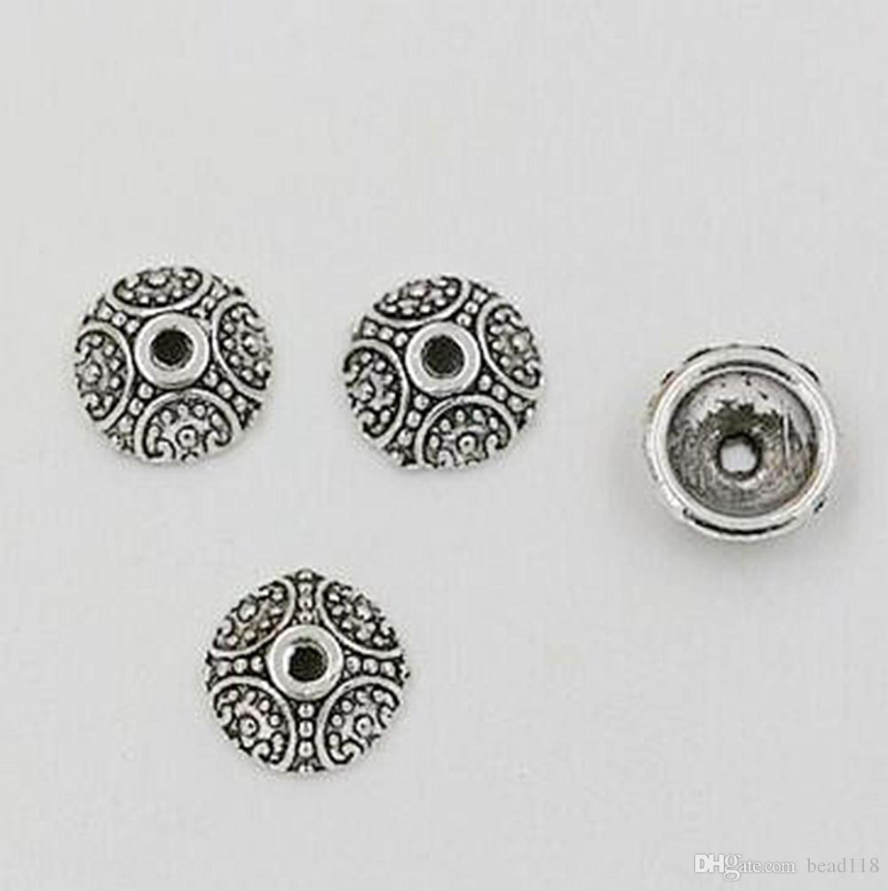 Heet ! 500 stks antiek zilver zinklegering vervaardigd kraal caps 10mm DIY-sieraden