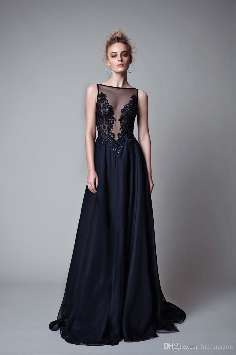 Berta Custom Made Evening Dresses Illusion Neck Sexy Backless Prom Dress Sequins Applique Floor Length Party Dresses