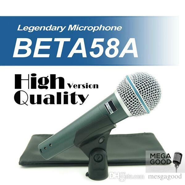 높은 품질 버전 베타 58 보컬 가라오케 휴대용 동적 유선 마이크 BETA58 Microfone 마이크 베타 (58) 마이크를 판매