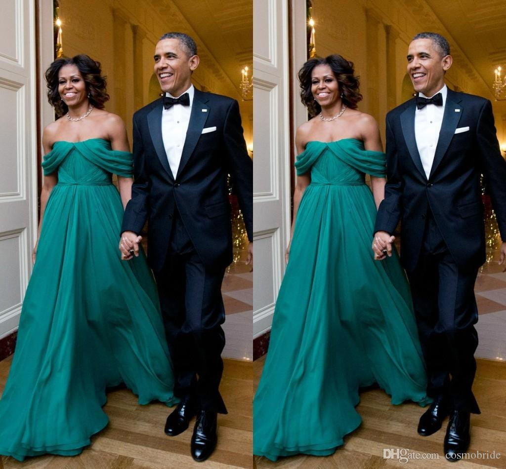 hot sale first lady Michelle Obama style evening dresses off ...