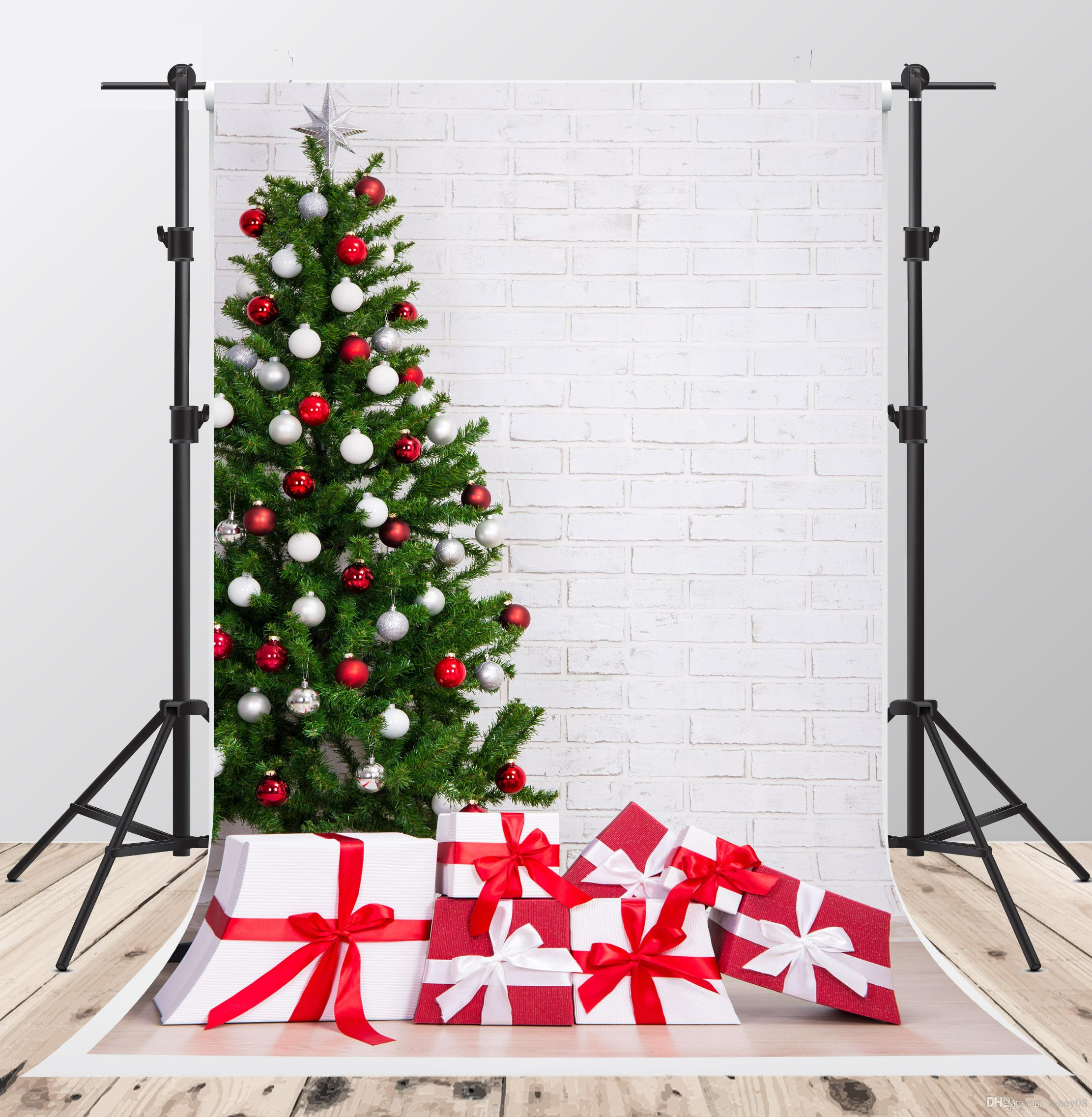 Christmas Tree Backgrounds.2019 Christmas Backgrounds For Photo Studio 5x7ft Backdrops Christmas Tree Box Backdrop Shooting From Fanny08 24 73 Dhgate Com