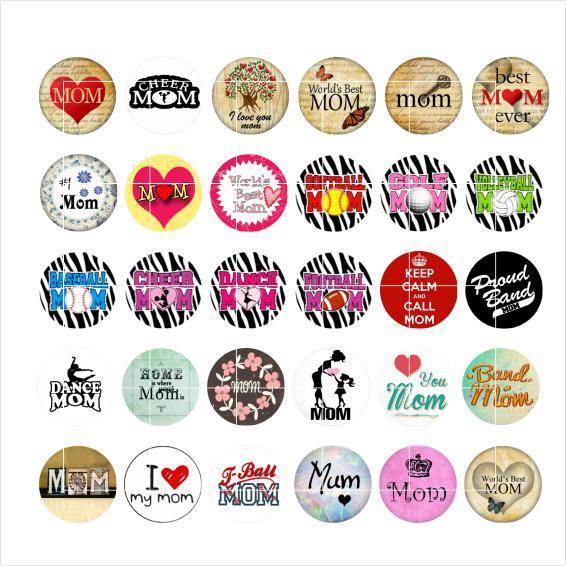 Frete grátis AMOR MOM snap botão jóias charme popper para pulseira 30 pçs / lote GL011 fazer jóias