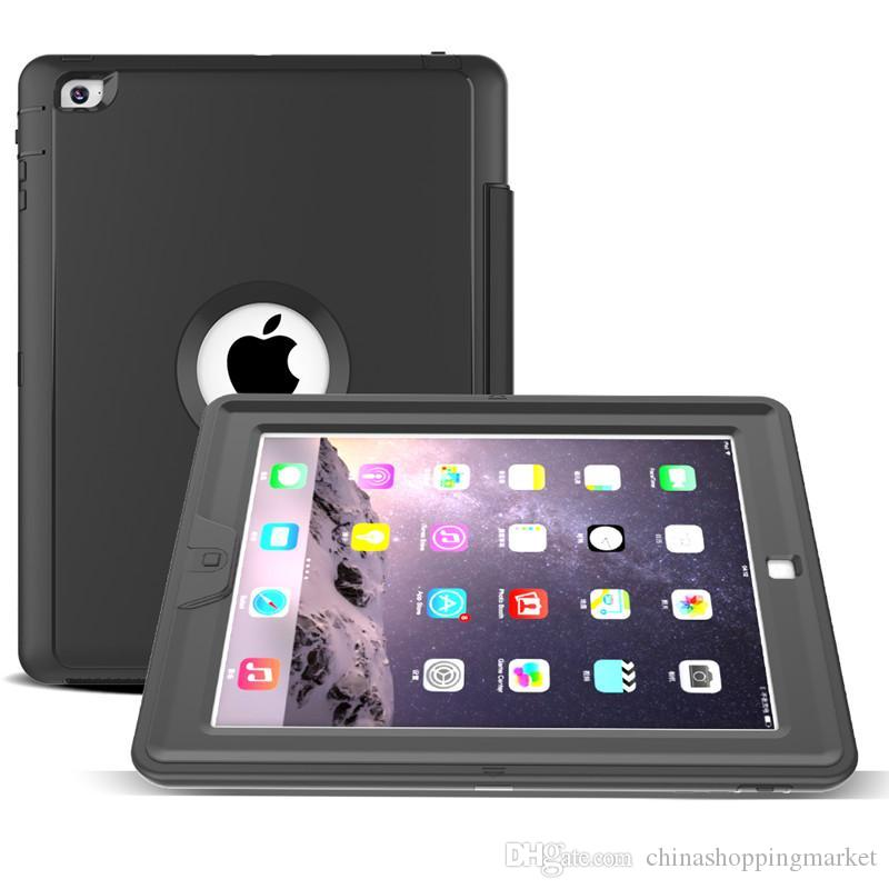 3 in 1 Hybrid Flip Folding Stand Case Heavy Duty Shockproof Smart Cover With Front Screen For iPad Mini 1/2/3/4 air 2 2018 Pro 9.7 10.5 12.9