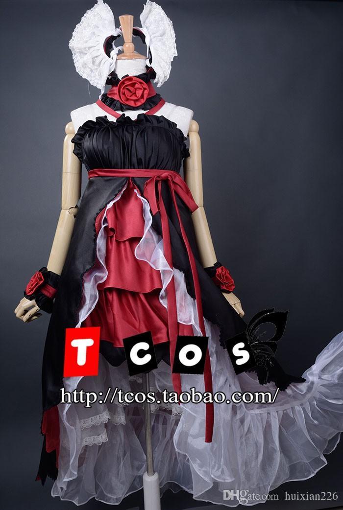Spedizione gratuita Anime Vocaloid Mago cosplay vestiti di sonno Loro Rita cameriera vestito costume per le donne / ragazza per la festa / natale