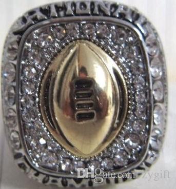 Freies verschiffen Heißer verkauf Top Qualität Österreich Kristall Ringe Ohio State University Buckeyes Meisterschaft Ringe Vintage Männer Schmuck