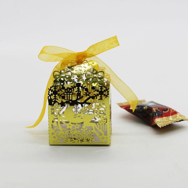 Gold Snowflake Christmas Medium Party Gift Bag