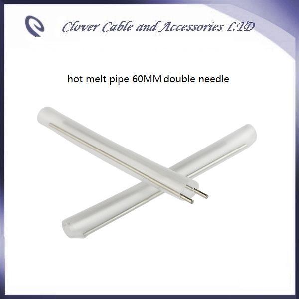 무료 배송 100PCS 광섬유 열 수축 튜브 60mm 섬유 핫 멜트 파이프 더블 니들
