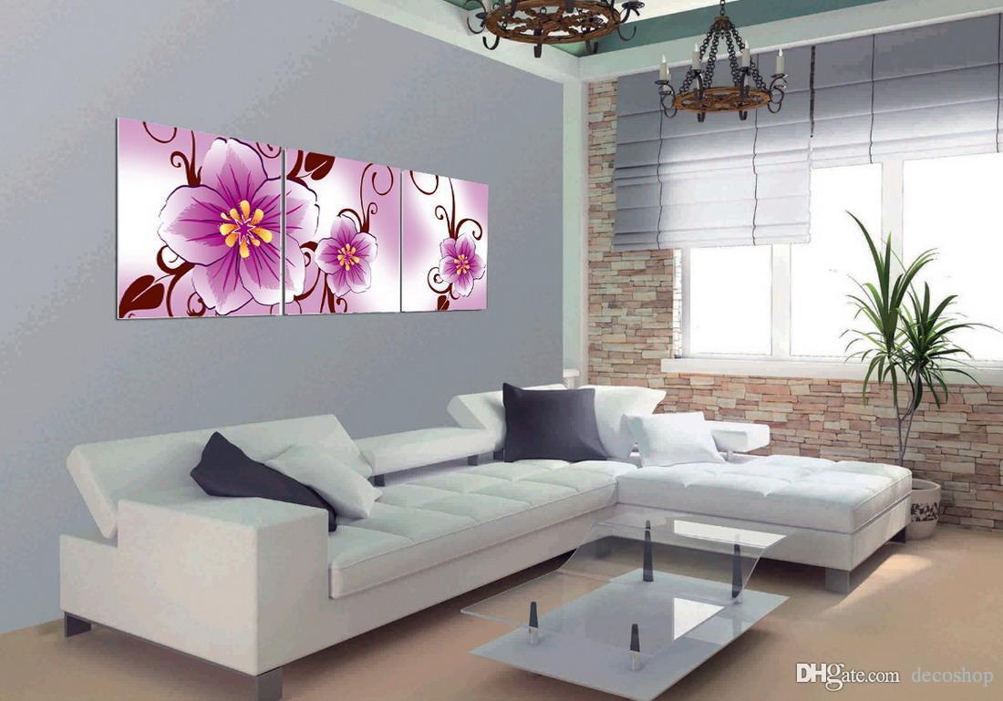 Modernas Belas Flores Finas Pintura Floral Giclee Impressão Na Lona Home Decor Wall Art Set30222