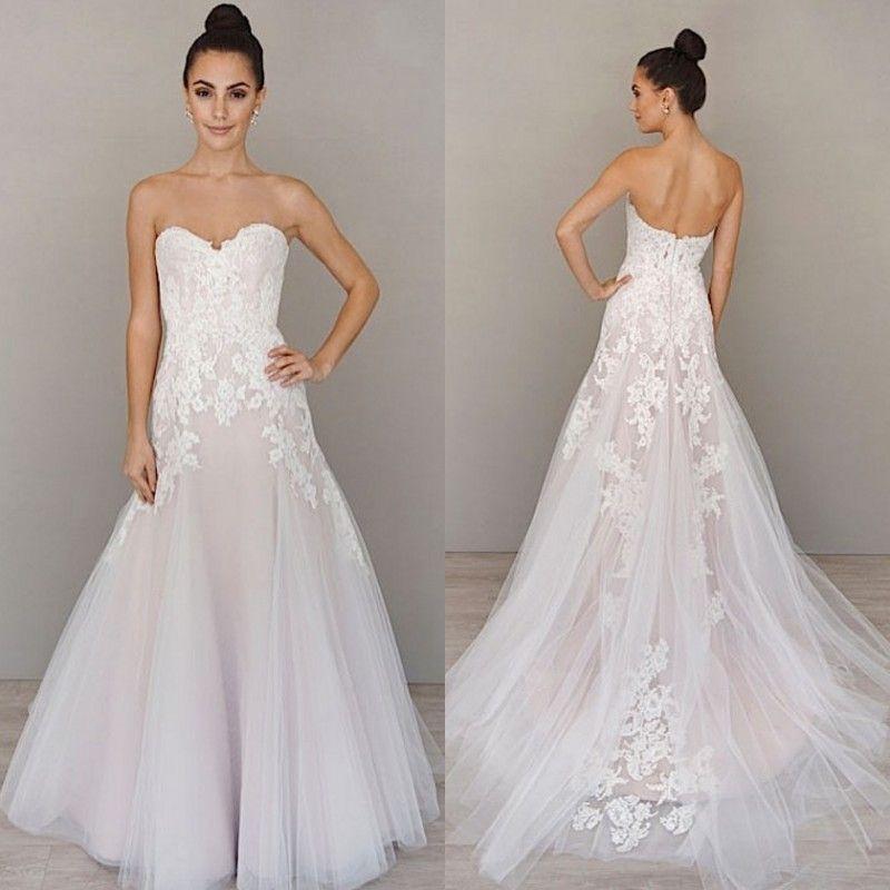 Alvina Valenta 2016 Fit And Flare Wedding Dress Sweetheart Neckline ...