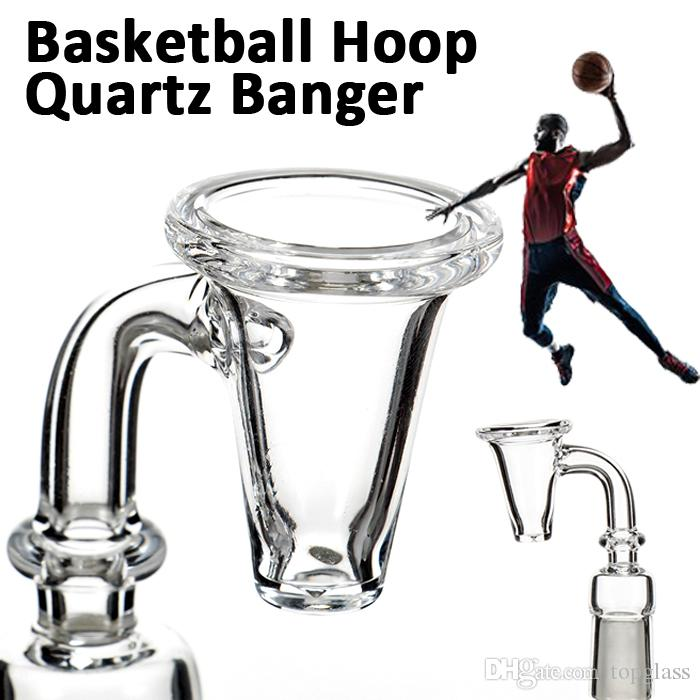 4MM 5MM thick Quartz Banger Nail Domeless Basketball Hoop Styled 10mm,14.4mm 18.8mm male female for glass bongs water pipes