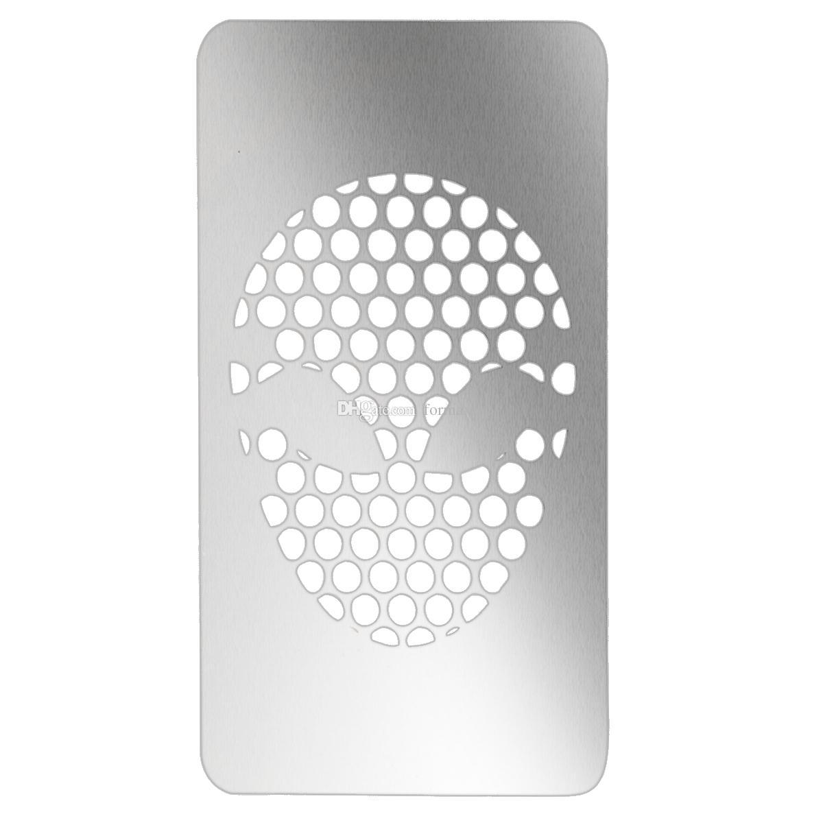 3.35 Zoll X 2 Zoll Karte Grinder ET Design Silber Herb Grinder Kostenloser Versand