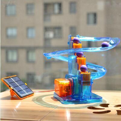 Ball bewegt sich! Kreatives Solar spielt diy Spielwarenkinder zusammengebaute wissenschaftliche Experimentelieblings-Bahnballspielwaren für Kinder scherzt freies Verschiffen