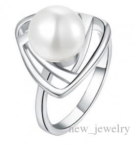 Mode vintage sieraden ring sets zilver goud vrouwen parel ringen luxe bruiloft hanger kettingen stud sieraden set accessoires bijouterie