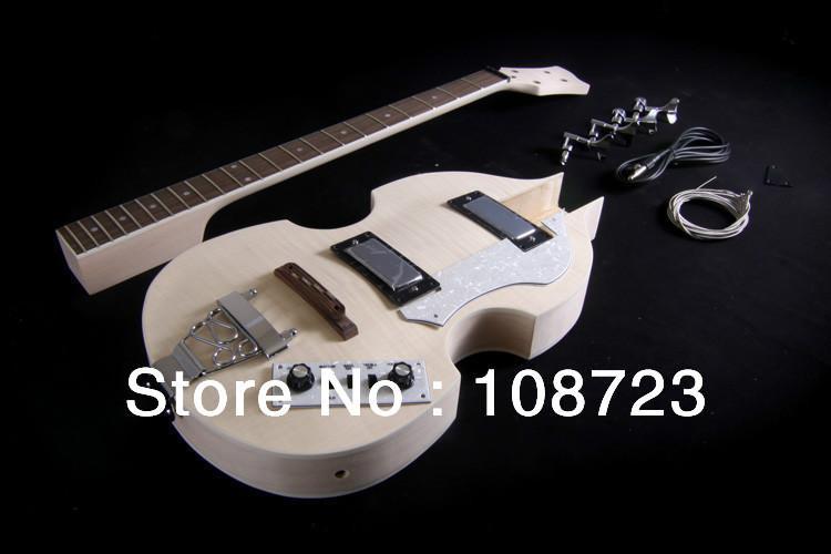 DIY 세미 할로우 바디 바이올린 일렉트릭베이스 기타 키트