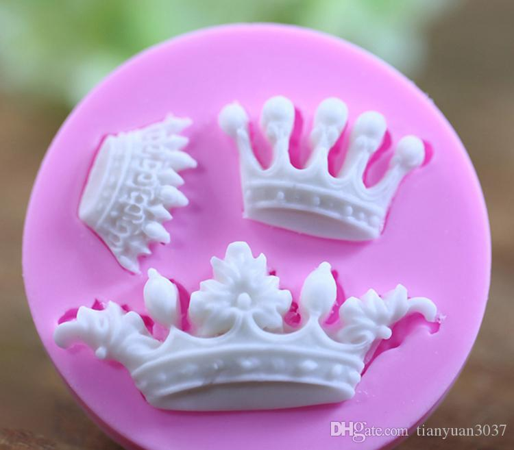 Baking Tools For Cakes Reposteria Bakeware New Arrival Imperial Crown Shaped 3d Cake Fondant Mold Decoration Tools Drop Shipping TY1790