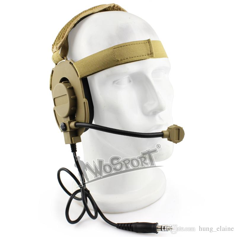Tactical Headset III Z Tactical Bowman Elite II Mic Radio Boom Use with PTT for Walkie Talkie Helmet Communication