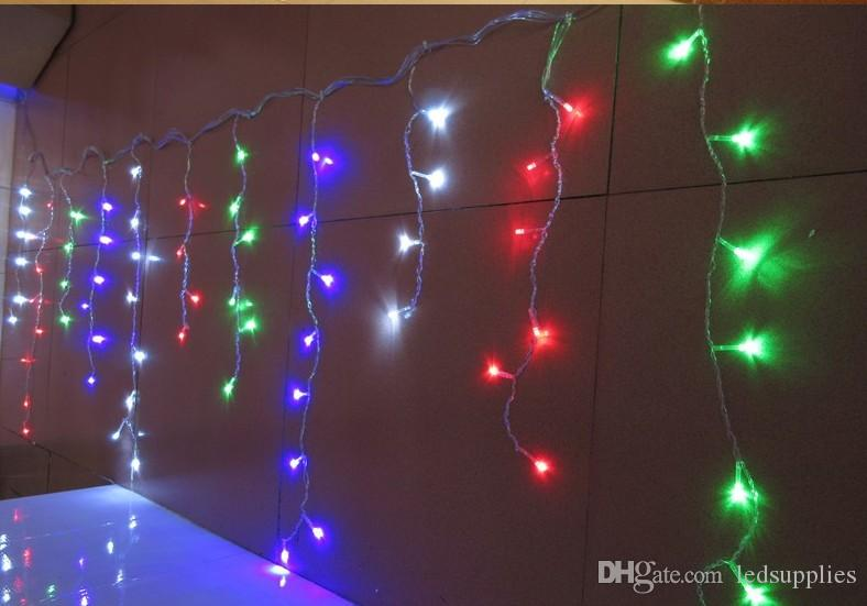NOVA 16 M x 0.7 M 480 LEDs Do Feriado Jardim Do Jardim Cortina Sincelo Corda Luzes Led Decoração 8 Modos de Flash AC 110 V-250 V
