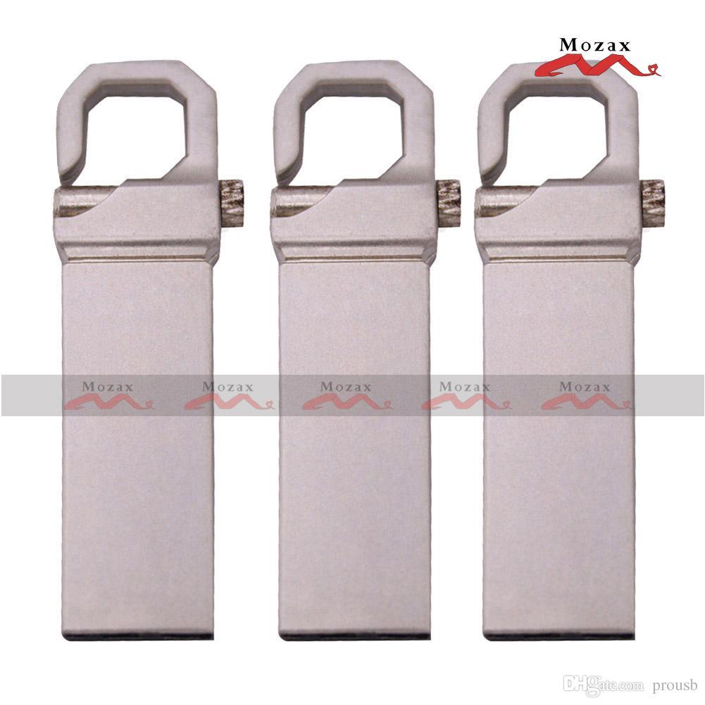 Free Laser Engraved Logo 10PCS 128MB/256MB/512MB/1GB/2GB/4GB/8GB/16GB Metal Key Stick USB Flash Drive Memory Flash Pendrive 2.0