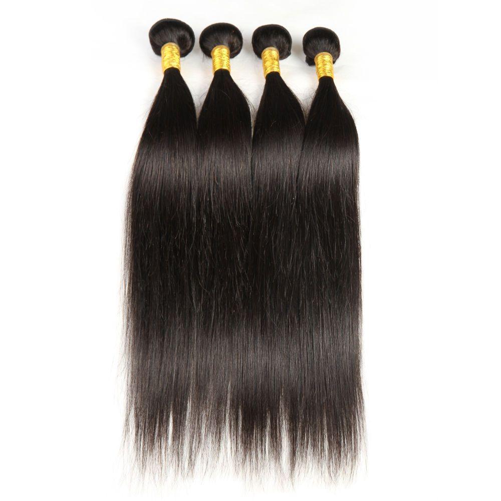 Grado 6A !!! estensioni malesi brasiliane brasiliane peruviane dei capelli estensioni doppia trama senza spargimento NESSUN groviglio durevole 60g 4pcs