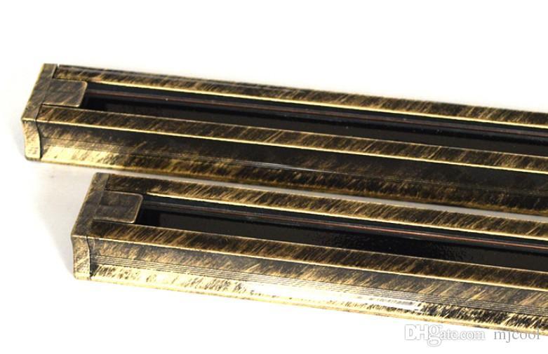 الرجعية المسارات سماكة الأمريكية كونتيننتال LED ضوء المسار المسار الرجعية العتيقة النحاس الأضواء المسار