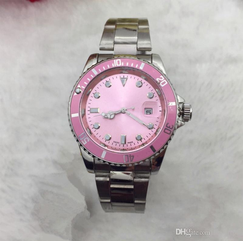 Reloj de moda Relojes de mujer Reloj de cuarzo de negocios Relojes de acero inoxidable Relojes casuales de lujo por mayor Envío gratuito