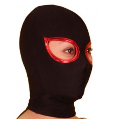 Lycra Spandex Preto Zentai Máscara Capuz Olhos Abertos Bodysuit Frete Grátis