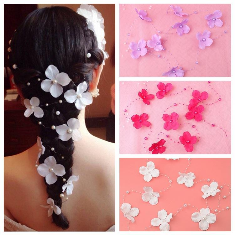 DHL Frete Grátis Moda noiva cocar flor e cocar da cadeia de pérolas de Casamento Cabelo Jóias acessórios de cabelo