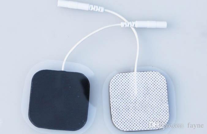 Angel Premium 자기 접착 Tens / EMS Unit 40 전극 패드. 재사용 가능한 셀프 스틱 젤 탄소 전극 (흰색 피복)