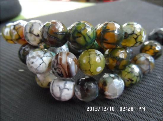 10mm 12mm Gema Natural Piedra Verde Faceta Ágata Bola Redonda Perlas Sueltas Diy Joyería de Moda Accesorios de Joyas Fabricación de Joyas