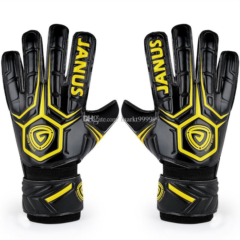 2016 New Adult male Genuine JA919 Back PU Soccer Goalkeeper Gloves Men's gloves with finger guard Slip resistant Professional Latex palm